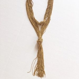 Anthropologie Gold Chain Necklace with Tassle